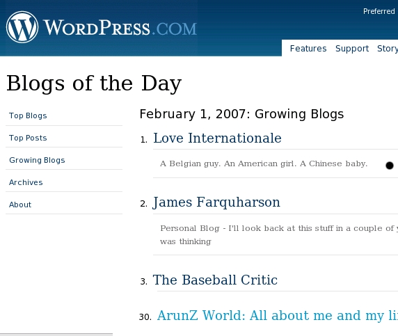 Blogs of the Day